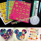 Paper DIY Set Quilling Tools Template Mould Board Tweezer Pins Slotted Tool Kit