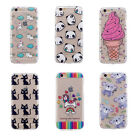 Beautiful Patterned Clear Ultra Thin Soft TPU Skin Back Protective Case Cover