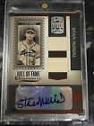 2005 Donruss Greats HOF Stan Musial Game Used Patch Bat Autograph