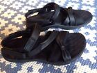 Merrell Vesper Lattice Strap Black Leather Sport Sandal Women 5
