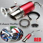 Short Performance Exhaust System Red Steel Kit For GY6 150cc Chinese Scooter