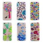 Fashion Printed Transparent Ultra Thin Soft TPU Skin Back Protective Case Cover