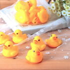 10pcs Funny Design Baby Bathing Tub Toys Mini Rubber Squeaky Float Duck Yellow