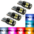 4x T10 194 Canbus LED Bulbs 5730 8 SMD Wedge Interior License Plate Door Light