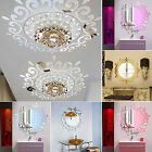 3D Acrylic Mirror Wall Sticker Self adhesive Decal Mural Art DIY Home Room Decor