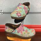 DANSKO MINT Soft Fabric Embroidered Flower MULTI COLOR Clogs Shoes 37 US 65 7