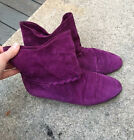 pupi dangieri purple suede boots made in Italy