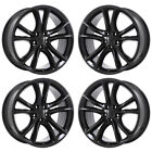20 CHALLENGER CHARGER BLACK TOP RT WHEELS RIMS FACTORY OEM SET 4 2545 EXCHANGE