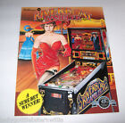 1990 WILLIAMS RIVERBOAT GAMBLER ORIGINAL NOS PINBALL MACHINE ADVERTISING FLYER