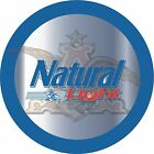 Natural Light 7 Inch Round Beer Sign