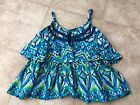 The Childrens Place TCP Girls Blue Green Tiered Tank Top 4 Xs
