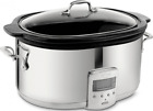 All-Clad SD700450 Programmable Oval-Shaped Slow Cooker with Black Ceramic Insert