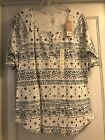 NWT Sonoma Woman Top Size XL Black  White