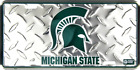 Michigan State Spartans Diamond License Plate Sign Made in the USA