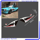 2X59 Full Size Shark Mouth Tooth Teeth Graphics Vinyl Car Sticker Decal Decor