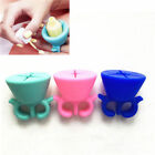 Silicone Nail Art P8olish Holder Flexible Durable Wearable Finger Bottle Stand ^