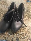 Girls Bloch dance character shoes black size 2