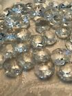 100 PCS 2 HOLE 14mm OCTAGON CRYSTAL BEAD JEWELRY CHANDELIER CHAIN PART