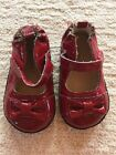 Worn Once ROBEEZ Red Bow Quilted Leather Shoes US Size 3 6 9 mo