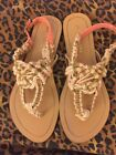 Misbehave Pink Tan White Sandals