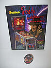 PINBALL MACHINE Original NOS Flyer + Promo Keychain Gottlieb FREDDY A NIGHTMARE