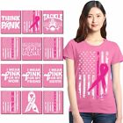 Multiple Breast Cancer Womens T shirt Support Breast Cancer Awareness APink Tee