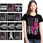 Multiple Breast Cancer Womens T shirt Support Breast Cancer Awareness Black Tee