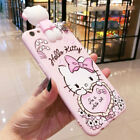3D Cute Hello Kitty Strap Tassel Pendant Soft Case Cover for iPhone 6 7 8 Plus X
