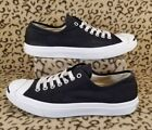 CONVERSE JACK PURCELL MENS CLASSIC LOW TOP SHOES SIZE 85 BLACK CANVAS SNEAKERS