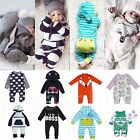 Newborn Infant Baby Boy Girl Kids Romper Jumpsuit Cotton Bodysuit Clothes Outfit