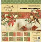 Graphic 45 WINTER WONDERLAND 8x8 Double Sided Paper Pad 24 sheets Christmas
