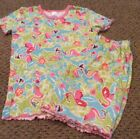 TCP The Children Place FLAMINGO Pajama 2pc S S Top Elastic Waist Shorts 14 EUC