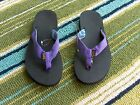 Teva Purple Blue Stripe Classic Flip Flop Thongs Sandals Womens 6 New In Box
