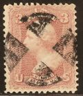 US Stamp Scott65 F VF used with nice Fancy Cancel