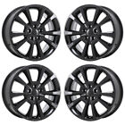 18 JEEP COMPASS PATRIOT GLOSS BLACK WHEELS RIMS FACTORY OEM 2381