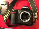Nikon D D80 102MP Digital SLR Camera Black Body Only + battery +charger