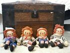 Vintage Sweet Georgene Raggedy Ann and Andy Lot of four!!!