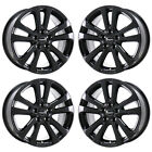 17 CHRYSLER 200 BLACK WHEELS RIMS FACTORY OEM 2015 2016 2017 2018 SET 4 2511