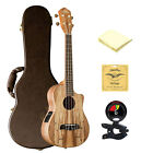 Oscar Schmidt OU8TLCE Electric Tenor Ukulele in Spalted Maple with Accessories