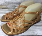 Pons Quintana Womens Sandals Woven Lattice Leather Brown Buckle Sz 38 US 8