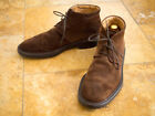 Tods Chocolate Brown Suede Chukka Desert Boots 85 Rubber Sole