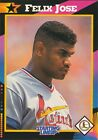 1992 Starting Lineup SLU Mail-In card variation, Felix Jose, St. Louis Cardinals