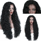 Black Long Loose Curly Synthetic Wig Lace Front Wig Synthetic Baby Hair 26 Inch