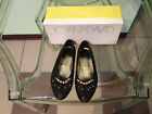 Womens Joan  David Black Soft Leather Flats With Star Charms Size 7