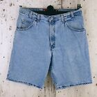 Vintage 90s Levis SilverTab Loose Stonewash Jean Shorts Made in USA Mens Sz 36