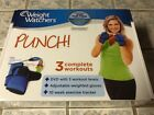 NEW Weight Watchers Punch DVD w 3 Complete Workouts  Weighted Gloves Exercise