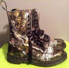 Dr Martens Hand Painted 14610 Comfort Military Combat Boots Size 8