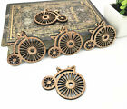 Natural Vintage bicycle HandMade Sewing Wooden Scrapbooking decoration Butons