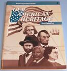 OUR AMERICAN HERITAGE 3rd Edition Test Quiz Key A Beka History 3rd Grade