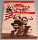 OUR AMERICAN HERITAGE 3rd Edition Map Review Key A Beka History 3rd Grade